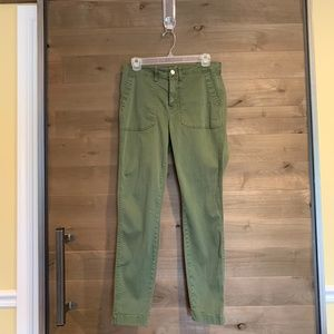 "J CREW 9"" Cargo Toothpick Utility Skinny Pants"